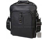 Мужская кожаная сумка черная (Формат: больше А4) HT-7843-3