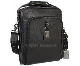 Чоловіча чорна шкіряна сумка (Формат: більше А4) HT-7843-3, фото 3