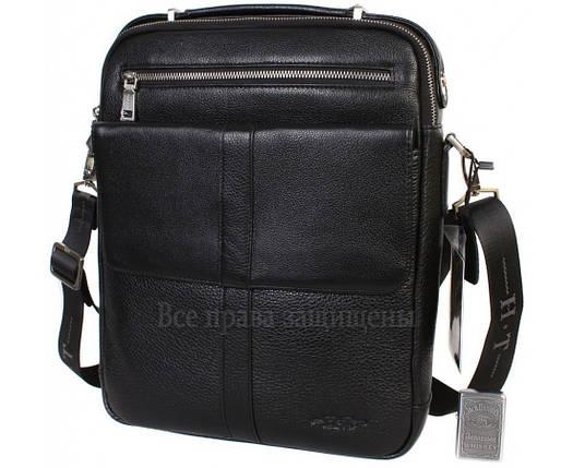 7c388af90511 Мужская кожаная сумка черная (Формат: больше А4) HT-9220-2: продажа ...