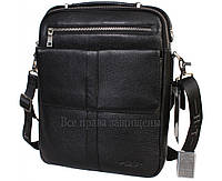 Мужская кожаная сумка черная (Формат: больше А4) HT-9220-2