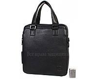 Мужская кожаная сумка черная (Формат: больше А4) HT-5252-2