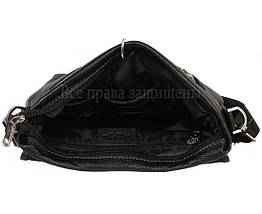 Мужская кожаная сумка через плечо черная (Формат: больше А4) HT-5117-2, фото 2