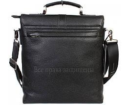Чоловіча чорна шкіряна сумка (Формат: більше А4) HT-5117-2, фото 2