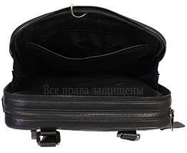 Мужская кожаная сумка черная (Формат: больше А4) HT-5240-2, фото 3