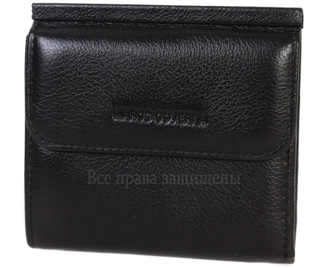 Мужской кожаный кошелек черный Marco Сoverna MC-213B-1