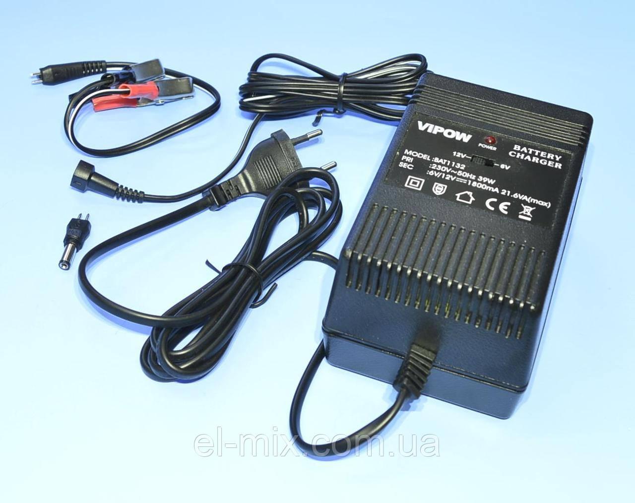 Устройство зарядное для аккумуляторов гелевых 6/12V (1800mA) Vipow BAT1132