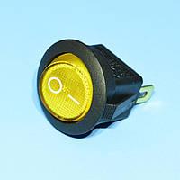 Выключатель 220В IRS-101-8С желтый 1-группа ON-OFF  PRK0002E