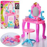 Мебель для кукол трюмо 44-23-74см, стульчик ,фен,расческа,аксессуарами