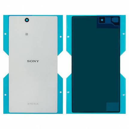 Задня кришка для Sony C6802 Xperia Z Ultra XL39h/C6806/C6833, біла Оригінал, фото 2