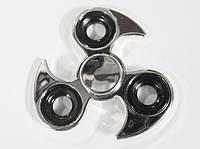 Спиннер вертушка крутилка  металический серебристый трёхконечный  Spinner  Сюрикен.
