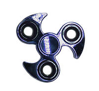 Спиннер вертушка крутилка  металический синий трёхконечный  Spinner  Сюрикен.