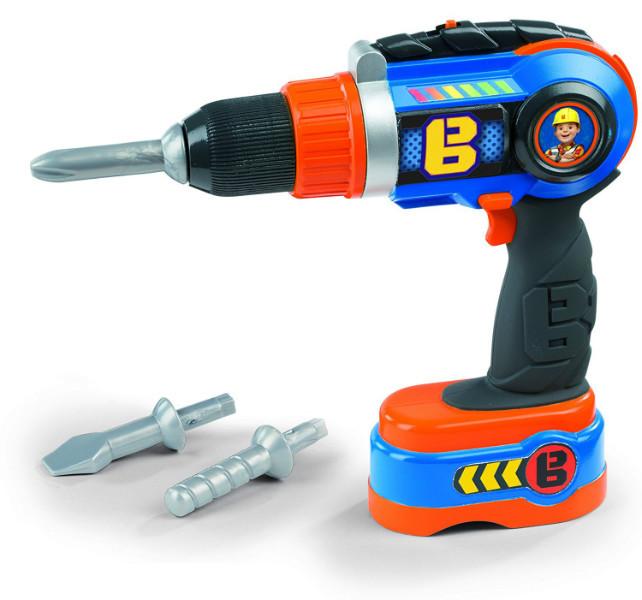 Smoby Дрель электронная Боб Строитель 360130 Bob The Builder Mechanical Drill