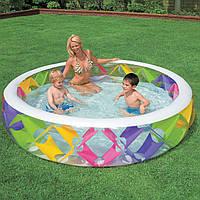 Бассейн с цветными вставками с надувным дном интекс Intex 229х56см (Intex 56494)