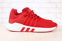 Мужские кроссовки сетка красные на шнурках