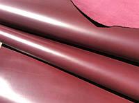 Натуральная кожа КРС самого высокого качества без пороков 1.4-1.6 мм бордового цвета, фото 1