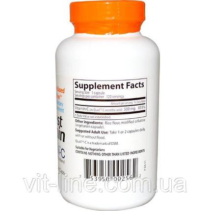 Doctor's Best, Витамин С от Best, 500 мг, 120 вегетарианских капсул, фото 2