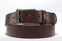 Ремень кожаный гладкий коричневый 'Diplom' 35 мм