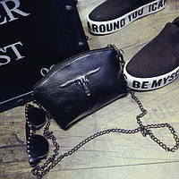 Изысканная миниатюрная женственная черная сумочка