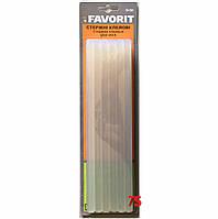 Клейові стрижні (термоклей), д. 11 мм, L 200 мм, прозорий, упаковка 12 шт