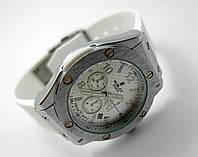 Женские часы HUBLOT - Big Bang каучуковый белый ремешок, цвет серебро, фото 1