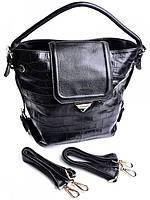 Рюкзак женский - сумка кожаная 801-1152 Black