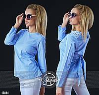 Легкая блузочка в принт Виши белая