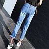 Джинсы женские с дырками AL7355, фото 3