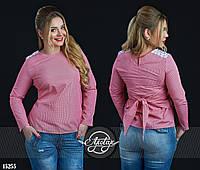 Легкая блузочка в принт Виши клеточка