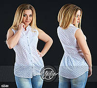 Стильная летняя блуза из прошвы белая