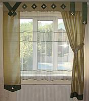 Комплект гардин Салатовый и зеленый Хай-тек, 2м, фото 1