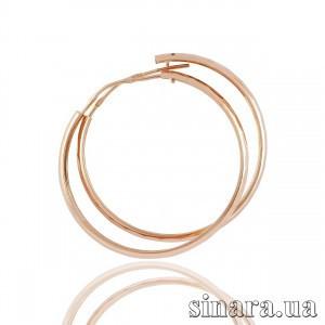 Золотые серьги кольца 1173 фото