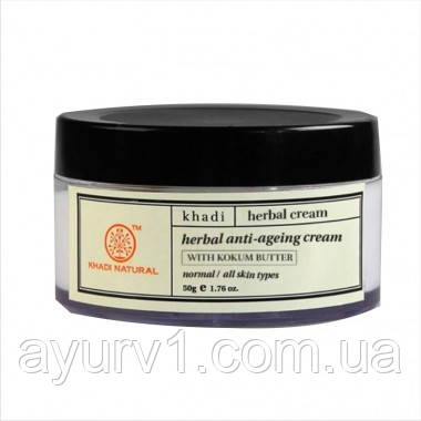 Травяной крем против старения / Herbal anti ageing cream / Khadi 50 г