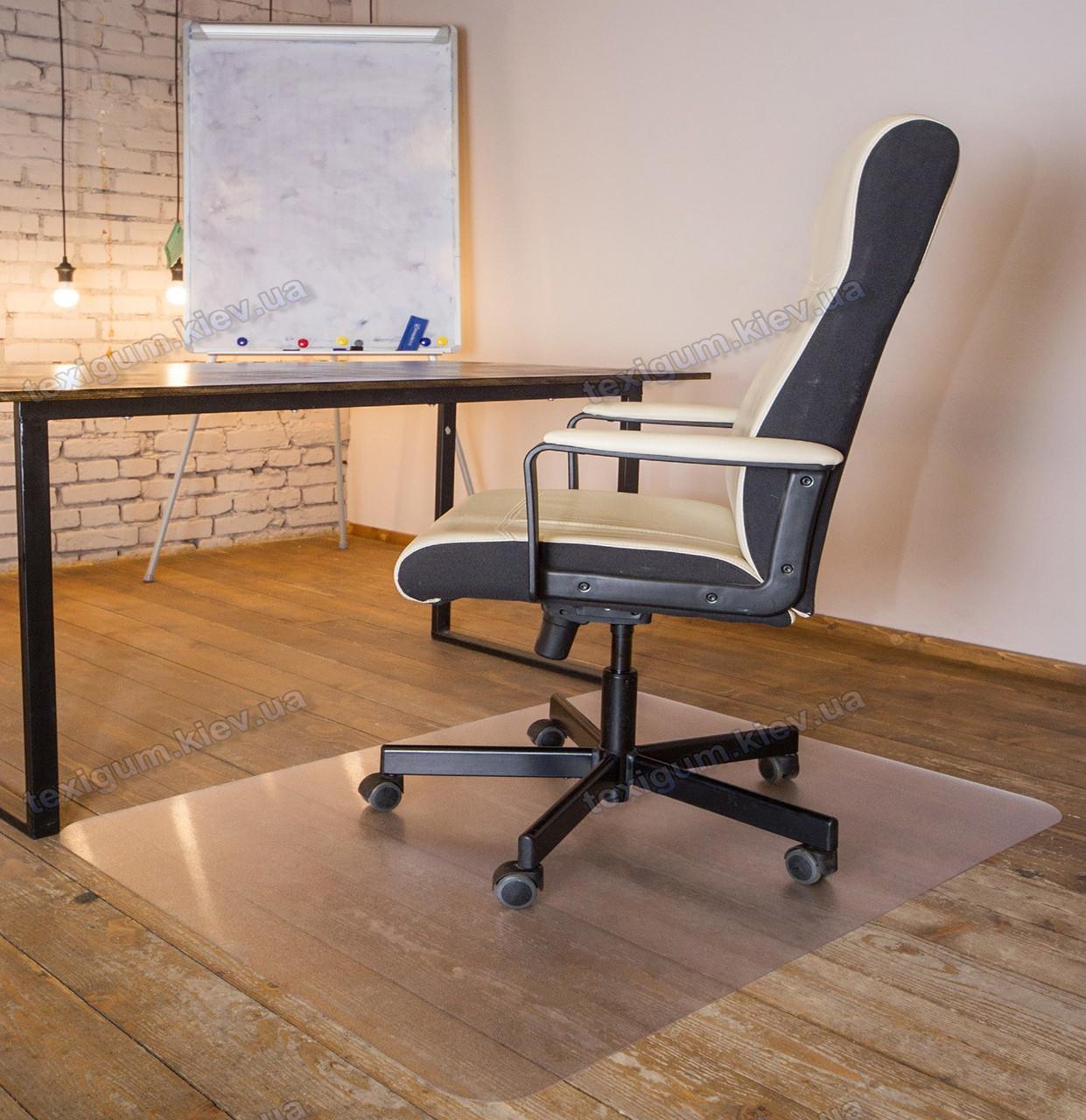 Ковер под кресло защитный прозрачный 100х120см Чехия. Толщина 2,0мм
