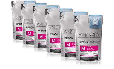 Сублимационные чернила EPSON SC-F Series MAGENTA 1л., фото 2