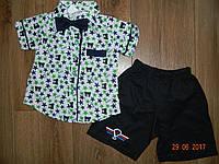 Летние нарядные костюмы для мальчика в звездочках на 1,2,3.4 года