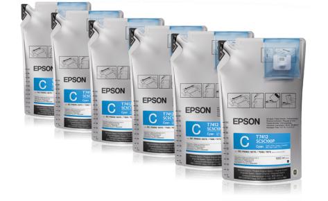 Сублимационные чернила EPSON SC-F Series CYAN 1л., фото 2