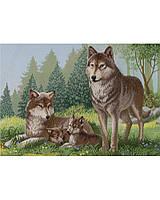 """Схема для вышивания бисером """"Семья волков"""" - полная зашивка"""