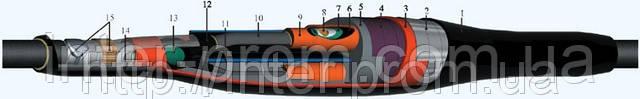 Муфта кабельная соединительная 4СТп-1- 35/50, 0,4-1 кВ с болтовыми соединителями, фото 2