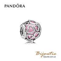 Pandora Шарм НЕЖНАЯ ЛЮБОВЬ #792036PCZ серебро 925 Пандора оригинал