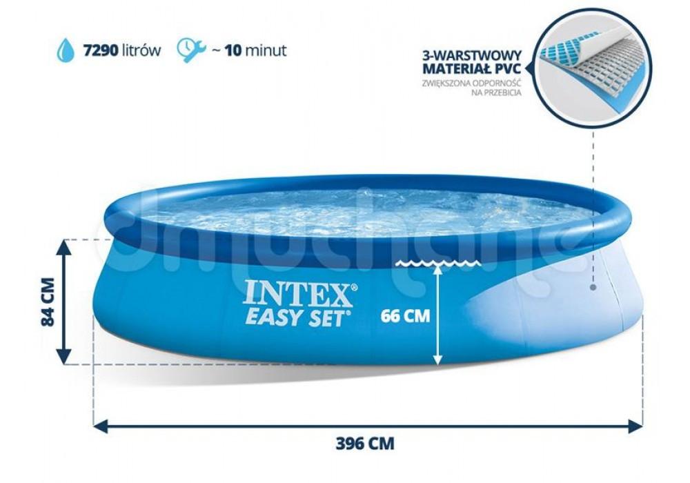 Бассейн с насосом 396x84 Intex 28142 наливной