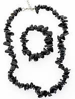 Комплект Агат бусы и браслет код 1193