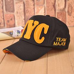 Стильная бейсболка унисекс NYC Team Major. Черная.
