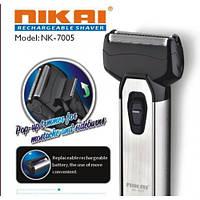 Электробритва с триммером NIKAI NK-7005 бритва, электрическая бритва сеточного типа, электробритва мужская