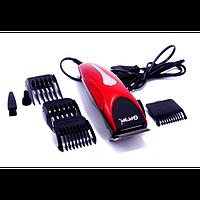 Машинка для стрижки волос с насадками GM-1025, триммер машинки для стрижки волос в домашних условиях