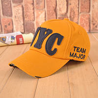 Стильная бейсболка унисекс NYC Team Major. Желтая.