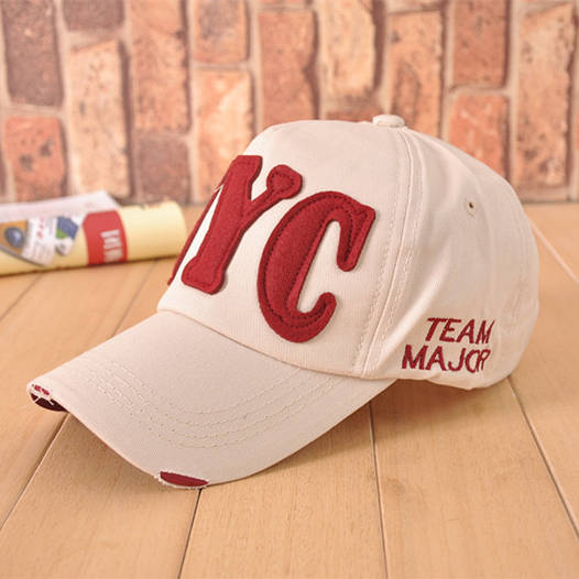 Стильная бейсболка унисекс NYC Team Major. Бежевая.
