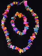 Комплект Перламутр бусы и браслет код 1195