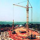 Мобильный самомонтирующийся башенный кран КБ-405