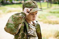 Кепка детская Немка для мальчиков камуфляж Варанчик, фото 3