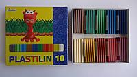 """Пластилин """"Colibri"""" 10цв,170гр,Мицар  для лепки,уроков труда и детского творчества и моделирования.Пластилін """""""